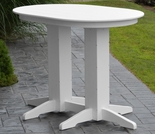 Polyresin 4' Oval Bar Table
