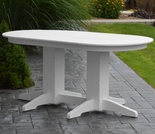 Polyresin 5' Oval Dining Table