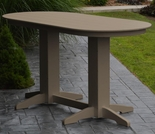 Polyresin 6' Oval Bar Table
