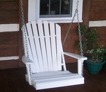 Polyresin Adirondack Chair Swing
