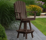 Polyresin Adirondack Swivel Bar Chair w/ Arms