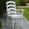 Polyresin Ladderback Dining Chair w/ Arms