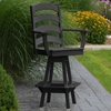 Polyresin Ladderback Swivel Bar Chair w/ Arms