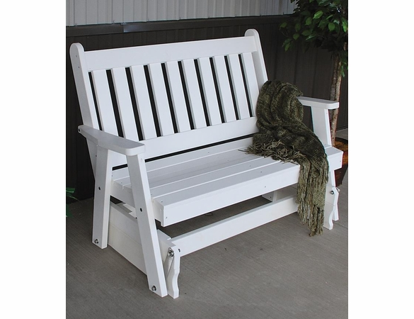 Polyresin Traditional English Outside Glider Bench
