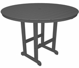 "POLYWOOD® 48"" Round Bar Height Table"