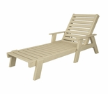 "POLYWOOD® Captain 77"" Chaise with Arms"