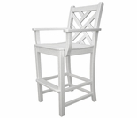 "POLYWOOD® Chippendale 48"" Bar Arm Chair"