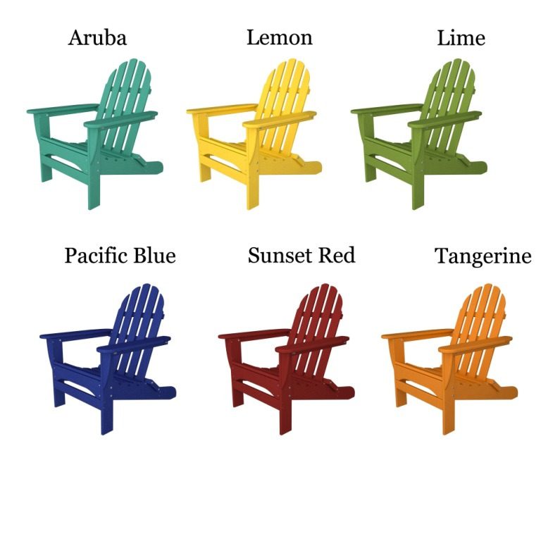 POLYWOODu0026reg; Classic Folding Straight Back Adirondack Chair