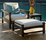 POLYWOOD® Club Deep Seating w/Bird's Eye Cushions 3-Piece Set