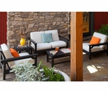POLYWOOD® Club Deep Seating w/Bird's Eye Cushions 5-Piece Set