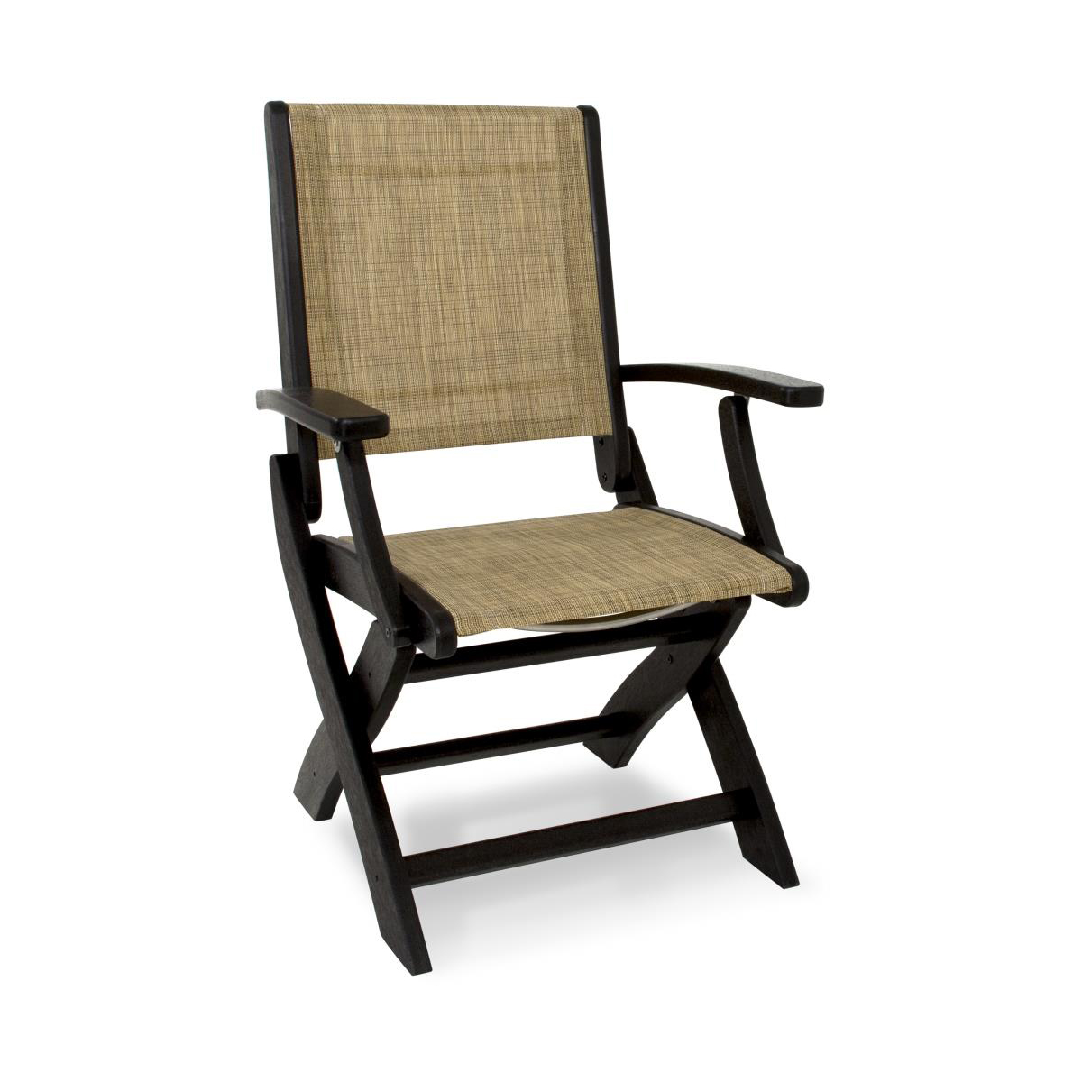polywood coastal folding dining chair. Black Bedroom Furniture Sets. Home Design Ideas
