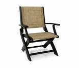 POLYWOOD® Coastal Folding Dining Chair