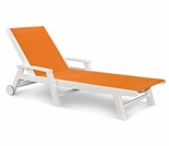 POLYWOOD® Coastal Wheel Chaise Lounge