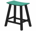 "POLYWOOD® Contempo 24"" Saddle Bar Stool"
