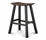 "POLYWOOD® Contempo 30"" Saddle Bar Stool"