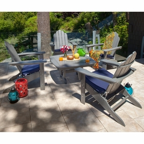 POLYWOOD® Long Island Adirondack 4 Seat Conversation Group