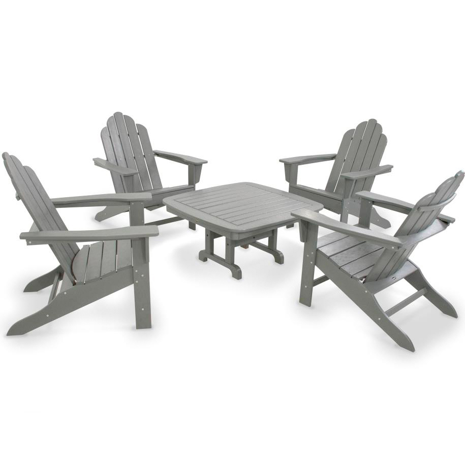 Patio Furniture In Long Island: POLYWOOD® Long Island Adirondack 5-Piece Chat Group