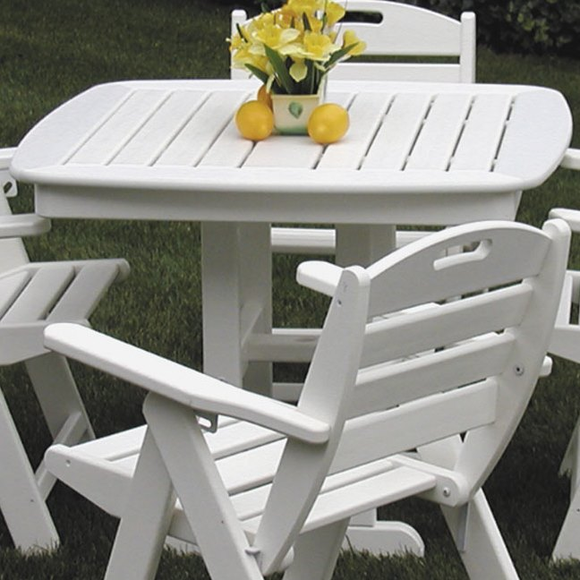 Polywood 174 Nautical 37 Inch Dining Table