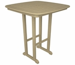 "POLYWOOD® Nautical 37"" Square Bar Table"
