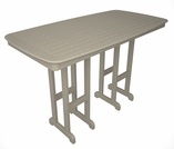 "POLYWOOD® Nautical 37"" x 72"" Bar Table"
