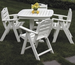 POLYWOOD® Nautical 4 Seat Dining Set