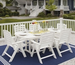 POLYWOOD® Nautical 6 Seat Dining Set
