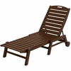 POLYWOOD® Nautical Wheeled Chaise - Stackable