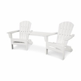 POLYWOOD® Palm Coast Folding Adirondack Tete-a-Tete Set