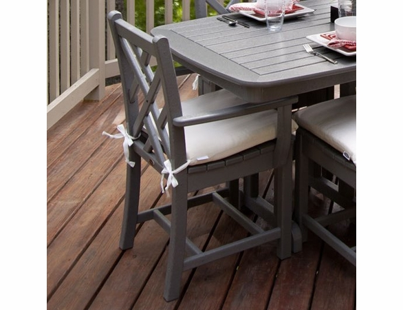 """POLYWOOD® Chippendale 35"""" Dining Arm Chair"""