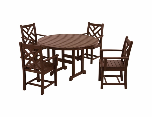 POLYWOOD® Chippendale 4 Seat Dining Set