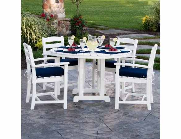 POLYWOOD® La Casa Cafe 5 Piece Dining Set & Cushions