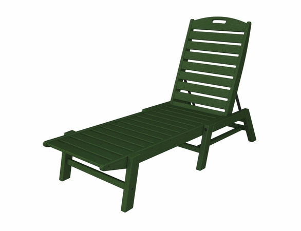 "POLYWOOD® Nautical 79"" Chaise - Stackable"