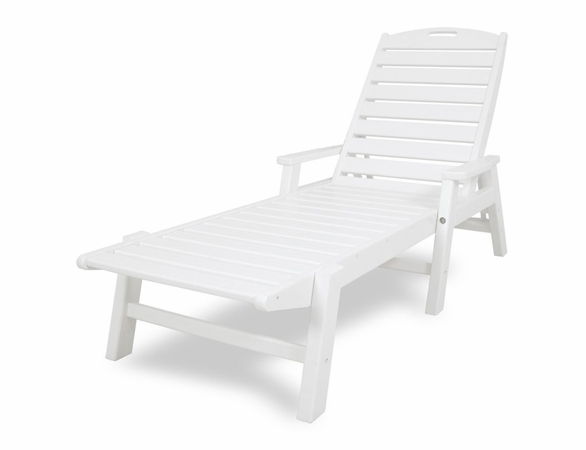 POLYWOOD® Nautical Chaise Lounge with Arms