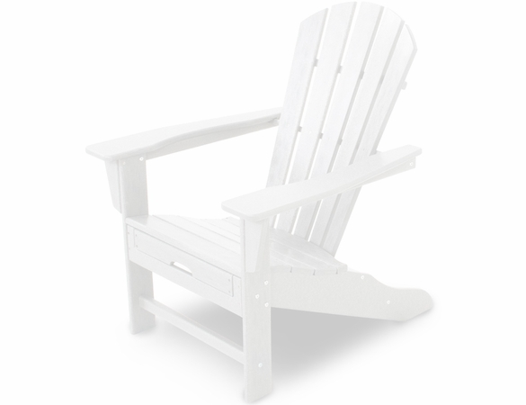 POLYWOOD® Palm Coast Ultimate Adirondack Chair with Hideable Ottoman