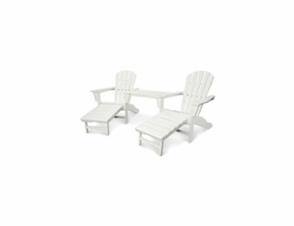 POLYWOOD® Palm Coast Ultimate Adirondack Tete-a-Tete Set