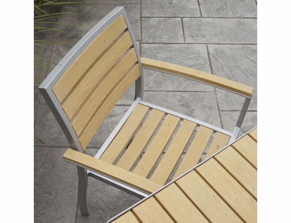 POLYWOOD® Poly/Aluminum Euro Arm Chair (2)