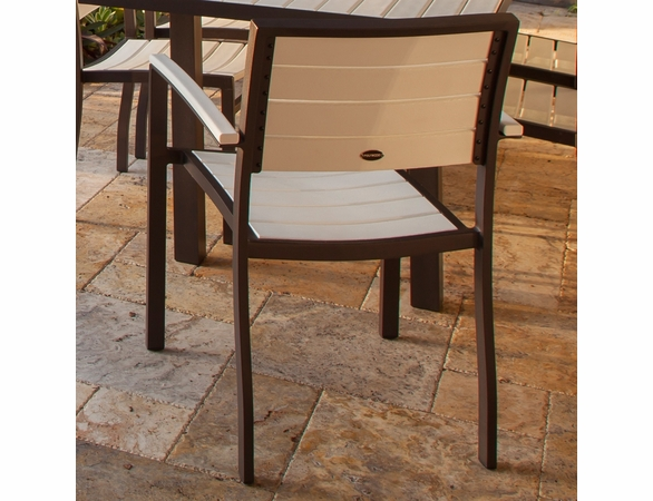 POLYWOOD® Poly/Aluminum Euro Side Chair (2)