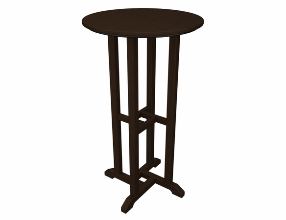 """POLYWOOD® Traditional 24"""" Round Bar Table"""