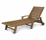 POLYWOOD® Signature Wheel Chaise Lounge