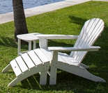 POLYWOOD® South Beach Adirondack 3-Piece, 1 Seat Set
