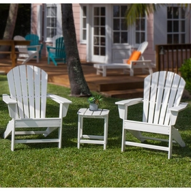 POLYWOOD® South Beach Adirondack 3-Piece, 2 Seat Set