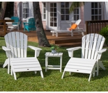 POLYWOOD® South Beach Adirondack 5-Piece, 2 Seat Set
