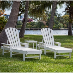 POLYWOOD® South Beach Chaise 2 Seat Set