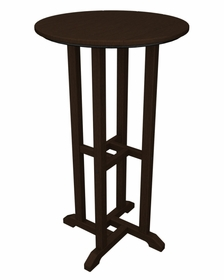 "POLYWOOD® Traditional 24"" Round Bar Table"