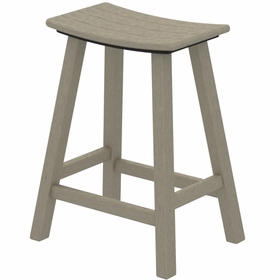 "POLYWOOD® Traditional 24"" Saddle Bar Stool"
