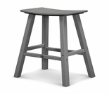 "POLYWOOD® Traditional 30"" Saddle Bar Stool"