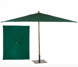 Oxford Garden 6'x10' Rectangular Sunbrella Market Umbrella - Wood Pole