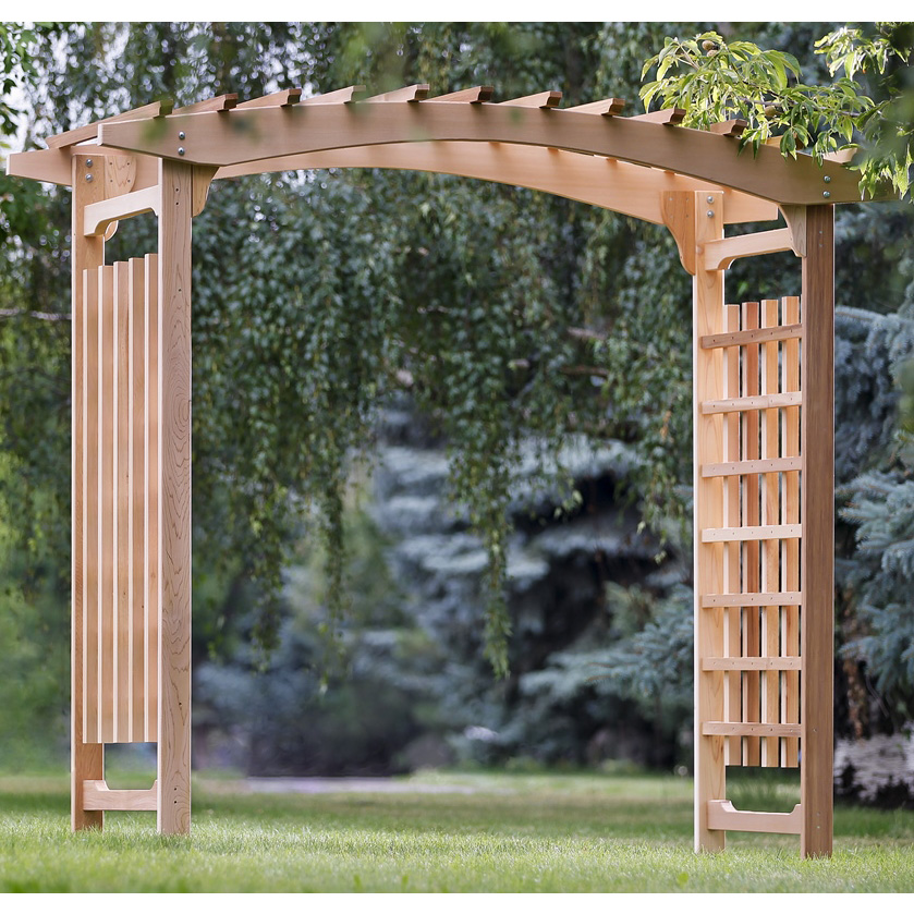 red cedar garden pergola arbor kit. Black Bedroom Furniture Sets. Home Design Ideas