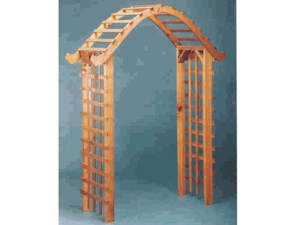 cedar wood pegoda style arbor. Black Bedroom Furniture Sets. Home Design Ideas