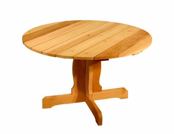 Red Cedar Round Pedestal Table